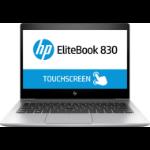 "HP EliteBook 830 G5 DDR4-SDRAM Notebook 13.3"" 1920 x 1080 pixels Touchscreen 8th gen Intel® Core™ i5 8 GB 256 GB SSD Wi-Fi 5 (802.11ac) Windows 10 Pro Silver"