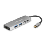 Aluratek AUMC0302F interface hub USB 3.0 (3.1 Gen 1) Type-C 5000 Mbit/s Silver