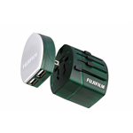 Fujifilm Fuji World Trip Dual USB Charger and Travel Adapter- Green