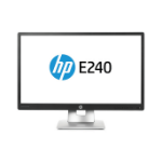 "HP EliteDisplay E240 IPS 23.8"" Silver, Black Full HD Matt"