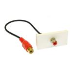 Cables Direct ZZ-MOD-1RCAR keystone module