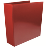 White Box WB PRES 4D RINGBINDER RED 65MM