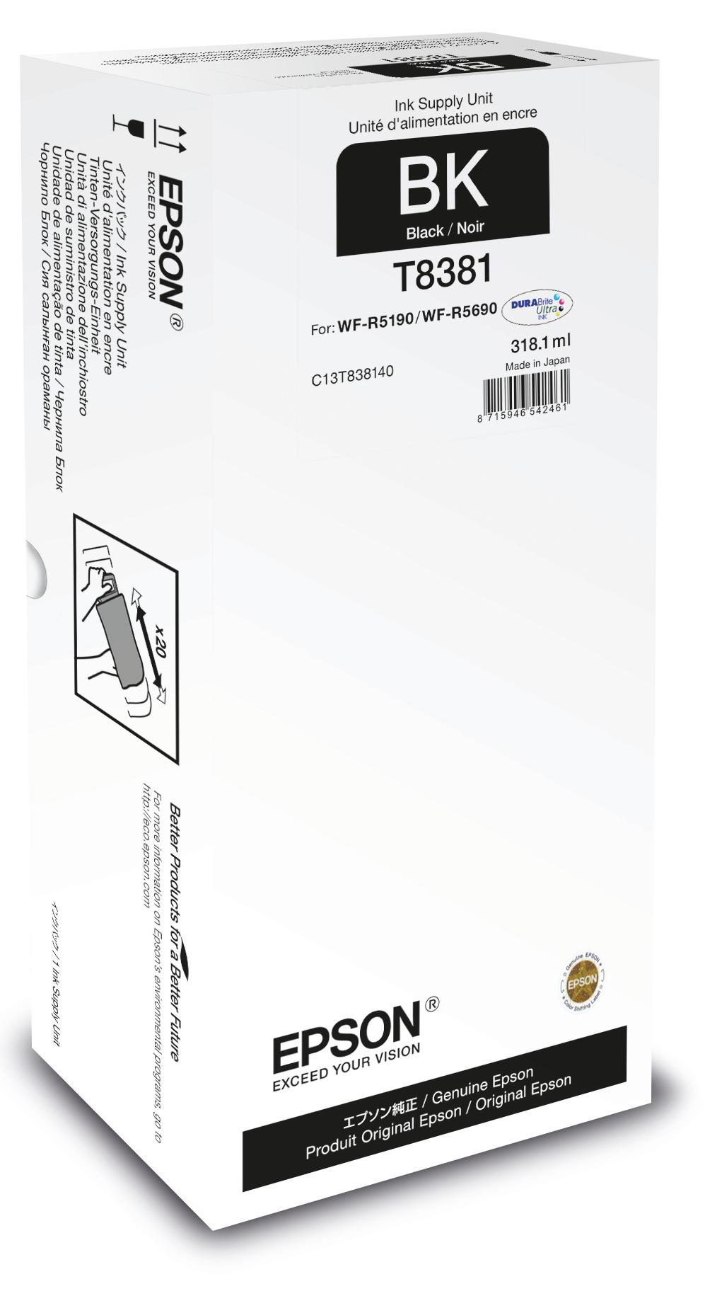 Epson Unidad de suministro de tinta T8381 negro XL