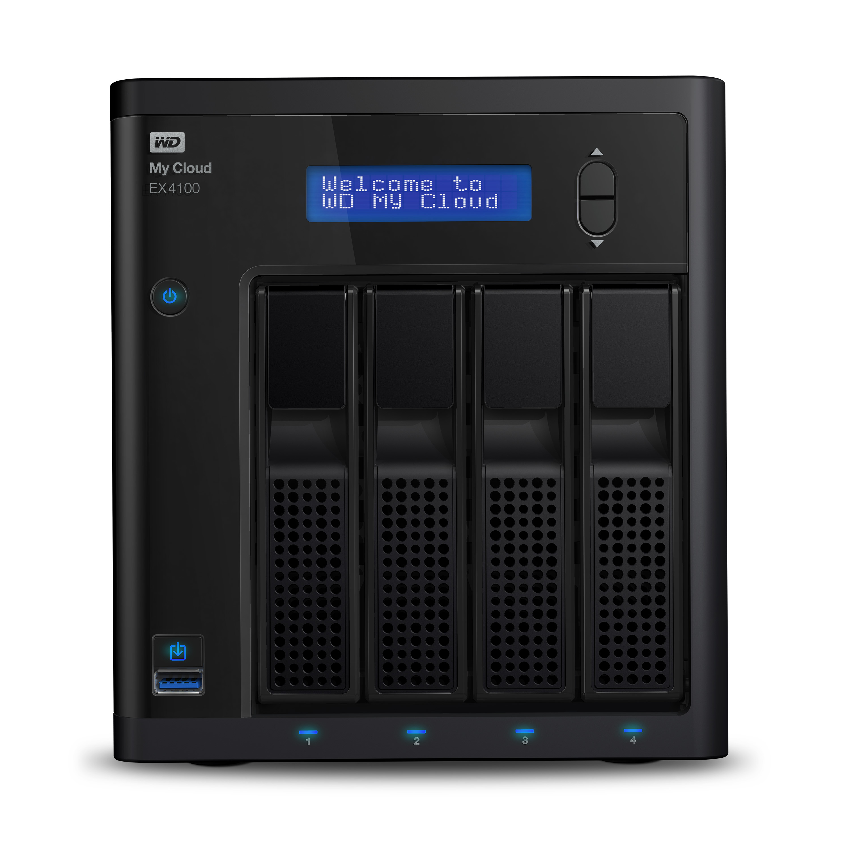 Western Digital My Cloud EX4100 16TB NAS Desktop Ethernet LAN Black