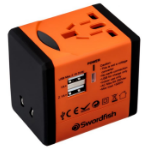 Swordfish 40253 power adapter/inverter Indoor Black, Orange