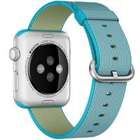 Apple 42mm Woven Nylon Band - Watch strap - scuba blue - for Watch (42 mm)