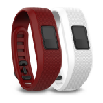 Garmin 010-12452-00 Bordeaux, White activity tracker band