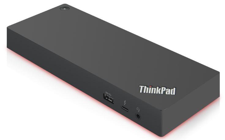 Lenovo 40AN0135EU base para portátil y replicador de puertos Alámbrico Thunderbolt 3 Negro, Rojo