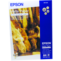Epson Matte Paper Heavy Weight, DIN A4, 167g/m², 50 Sheets C13S041256