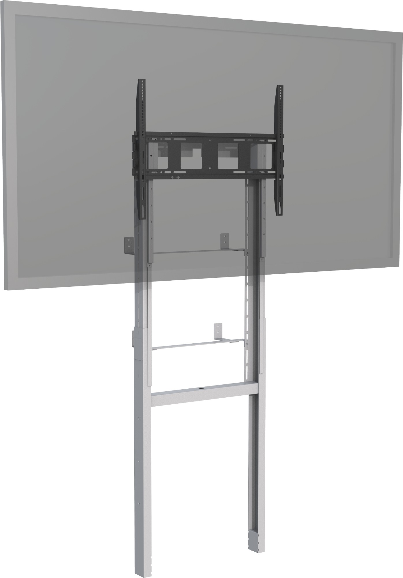 "Vision VFM-F8X4 110"" Portable flat panel floor stand Grey, White flat panel floorstand"