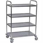 FSMISC STAINLESS 4 TIER SERVICE TROLLEY