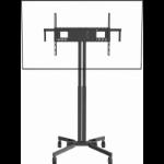 "Vision VFM-F30/W/6X4 flat panel floorstand 190.5 cm (75"") Portable flat panel floor stand Black"