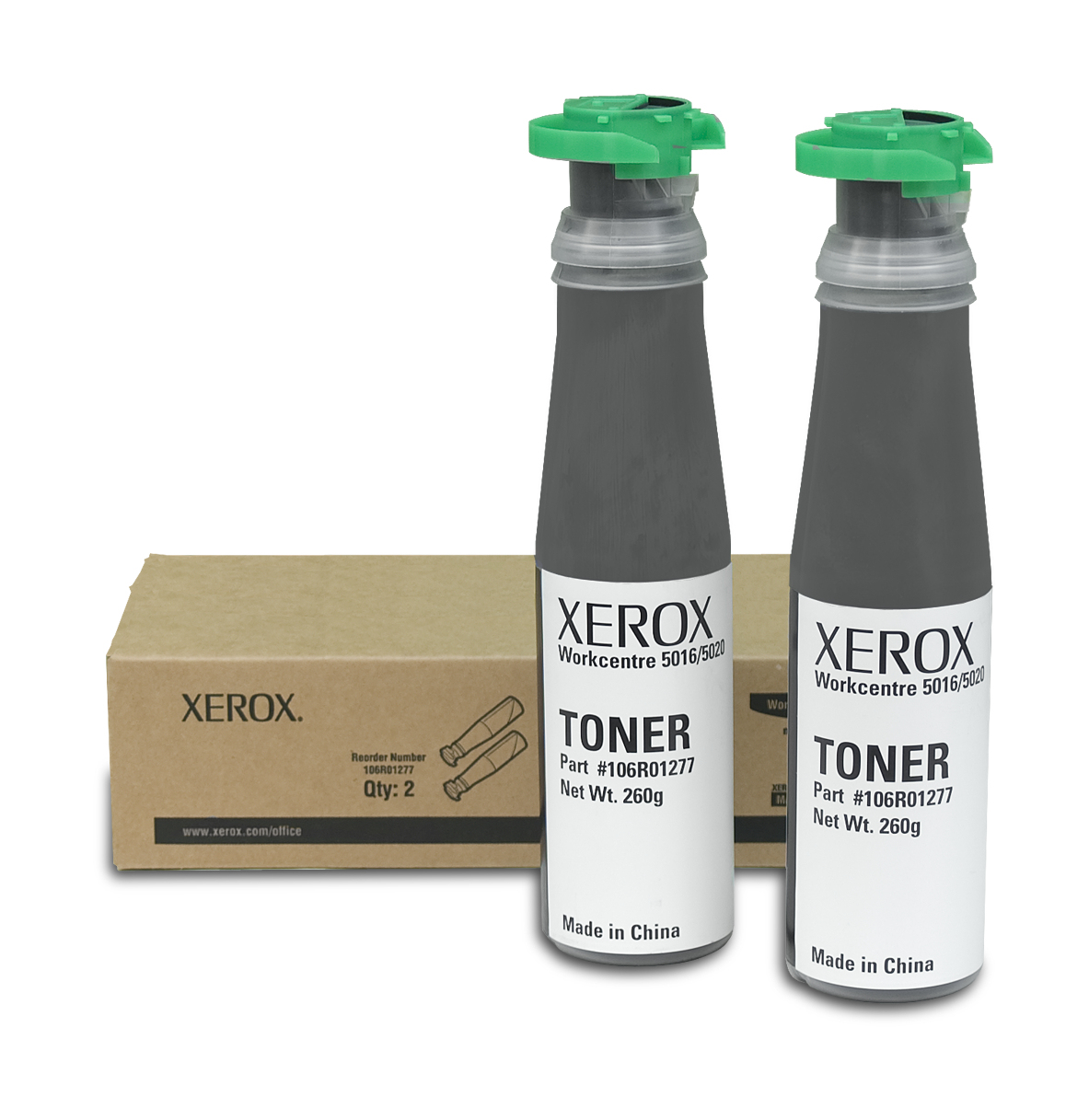 Xerox 106R01277 Toner black, 6.3K pages @ 5% coverage, Pack qty 2