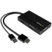 StarTech.com Travel A/V Adapter: 3-in-1 HDMI to DisplayPort, VGA or DVI - 1920 x 1200