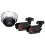 Proper Dummy Dome & Security Camera Kit Black,White dummy security camera