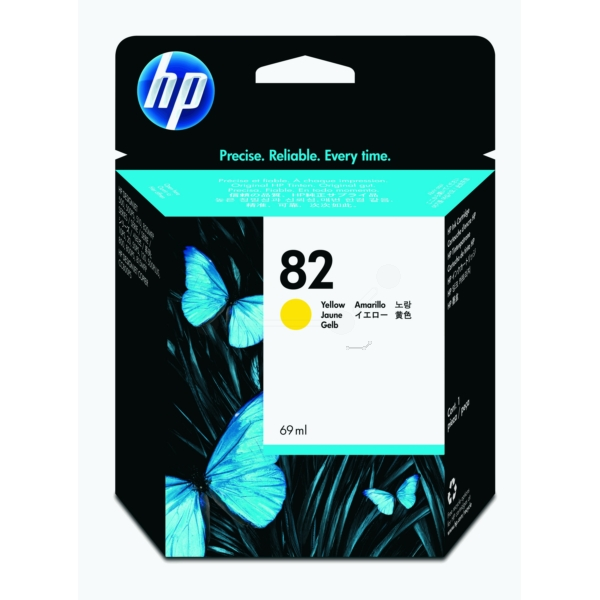 HP No 82 Ink Cartridge Yellow 69ml - C4913A