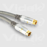 Videk Mini 4 Din M to Mini 4 Din M Gold SVHS Video Cable 5m 5m S-Video (4-pin) S-Video (4-pin) S-video cable