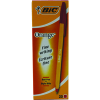 BIC Orange Fine Stick ballpoint pen Fine Red 20pc(s)