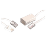 Videk BT / RJ45 1.5m 2 Pack 1.5m White telephony cable