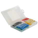 DeLOCK 86278 Cable tray Black,Blue,Green,Red,Yellow 50pc(s) cable organizer