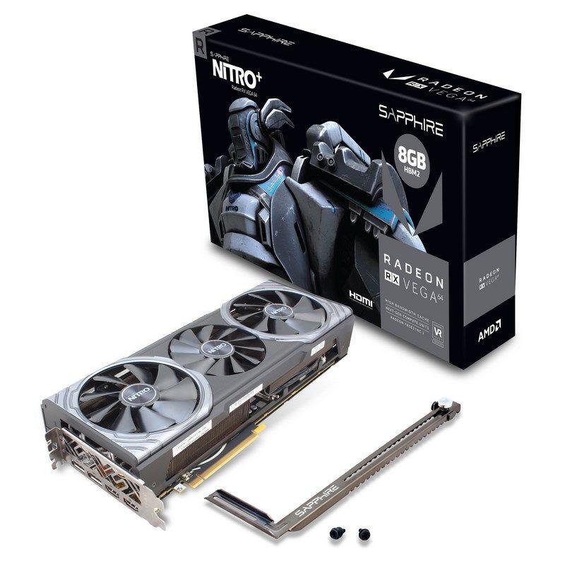 Video Card Radeon Rx Vega 64 Nitro+ 2xhdmi Dual Dp (uefi)