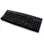 Accuratus KYBAC260UP-BKCY USB + PS/2 QWERTY Russian Black keyboard