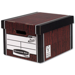 Bankers Box Bankers Box Premium Storage Box Tall FSC Woodgrain [Pack 12] [12 for the price of 10] Ref 7260503