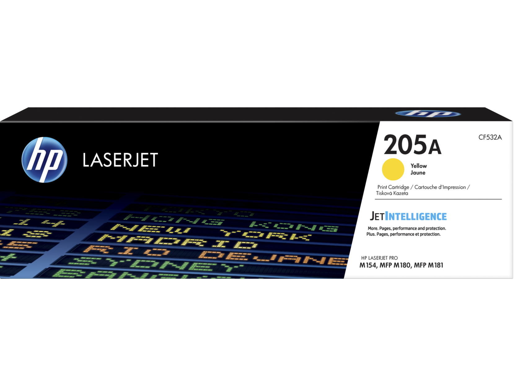 HP CF532A (205A) Toner yellow, 900 pages