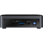 Intel NUC BXNUC10I7FNK2 PC/workstation barebone i7-10710U 1,1 GHz UCFF Zwart BGA 1528