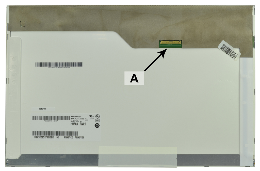 2-Power 14.1 WXGA 1280x800 LED Matte Screen - replaces 42T0733