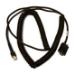 Zebra CBA-R62-C20PAR cable de serie Negro 6 m DB9