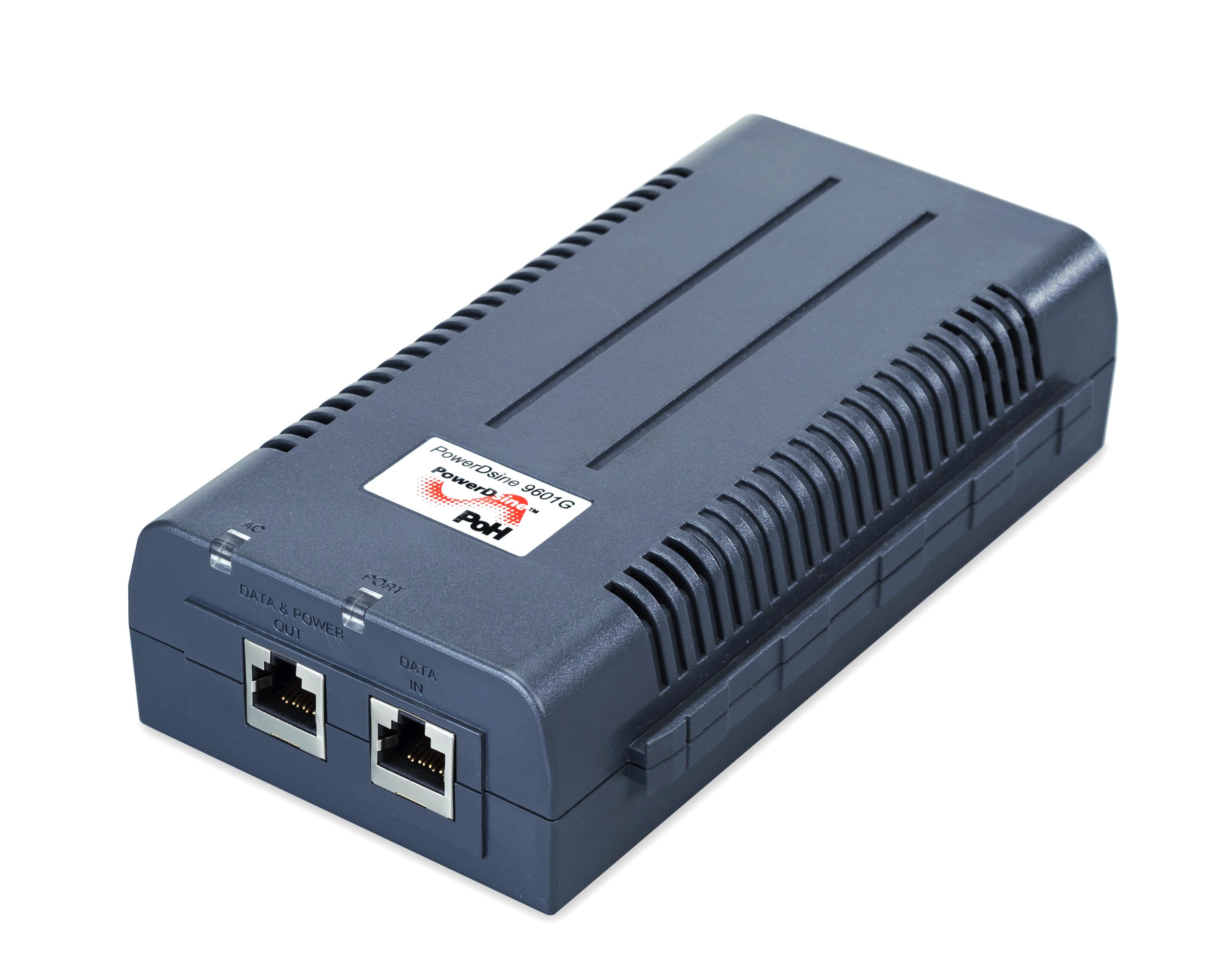 Microsemi 9601G Gigabit Ethernet 57V PoE adapter