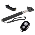 Generic Extendable Selfie Stick with Bluetooth Remote Shutter