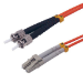 MCL 1m LC/ST cable de fibra optica OM2 Red,Black,Grey