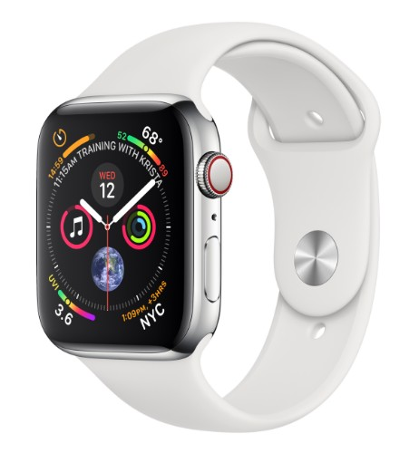 Apple Watch Series 4 smartwatch Stainless steel OLED Cellular GPS (satellite)