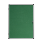 Bi-Office Enclore Green Felt Lockable Noticeboard 20xA4 DD