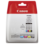 Canon 0386C005 (CLI-571) Ink cartridge multi pack, 7ml, Pack qty 4