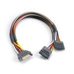Akasa SATA power splitter 0.3m Black,Red,White,Yellow power cable