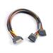 Akasa SATA power splitter 0.3m Black,Red,White,Yellow