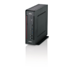 Fujitsu ESPRIMO Q957 2.9GHz i7-7700T Mini PC Black, Red Mini PC