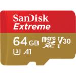 Sandisk Extreme 64GB MicroSDXC UHS-I Class 10 memory card