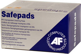 AF Safepads disinfecting wipes