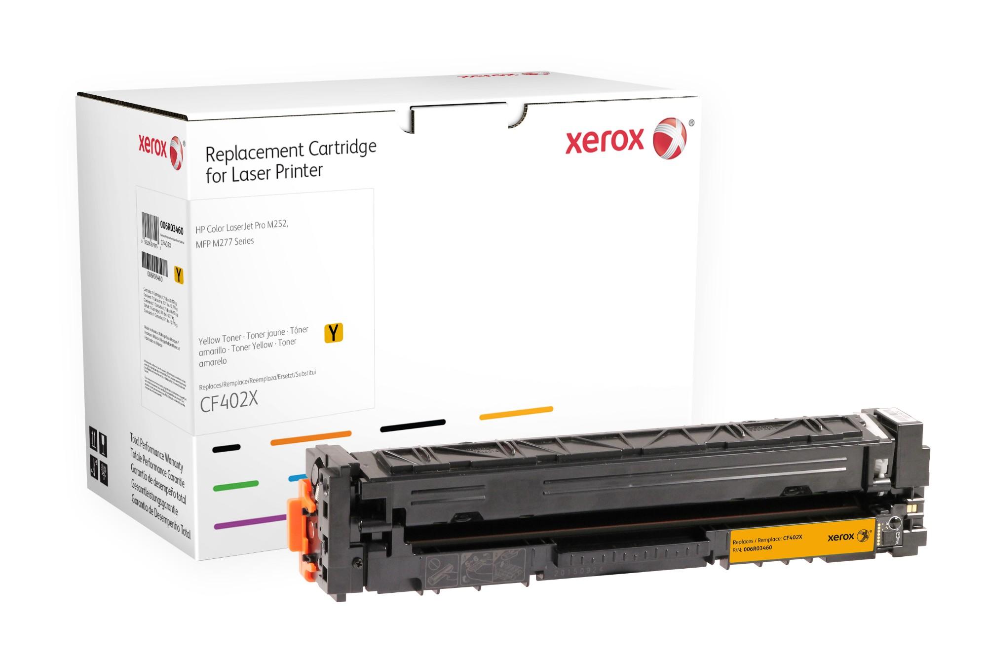 Xerox Cartucho de tóner amarillo. Equivalente a HP CF402X. Compatible con HP Colour LaserJet Pro M252, Colour LaserJet Pro M274, Colour LaserJet Pro M277