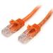 StarTech.com Cable de 1m Naranja de Red Fast Ethernet Cat5e RJ45 sin Enganche - Cable Patch Snagless