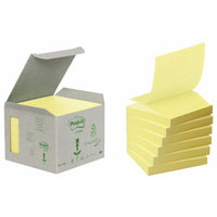 Post-It RECYCLED ZNOTES 76X76 YELLOW P6