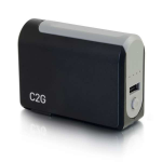 C2G 20275 power bank Black,Grey 3000 mAh