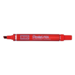 Pentel N 60 permanent marker Red Chisel tip 12 pc(s)