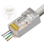 Lanview AWG23-24 stranded/solid wire connector RJ45 Transparent
