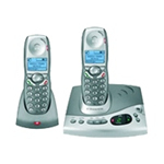 British Telecom Diverse 6250 Twin DECT telephone Caller ID Silver