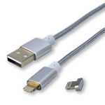 MCL ACC-IP05/2A-1M cable de conector Lightning Plata